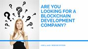 Are You Looking For a Blockchain Development Company?