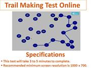 Trail Making Test Online – cogquiz