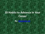 10 Habits to Advance in Your Career