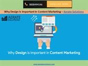 Why Design is Important in Content Marketing – Aerate Solutions