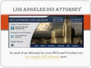 Professional Los Angeles DUI Attorney
