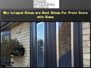 Why Integral Blinds are Best Blinds For Front Doors with Glass