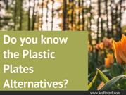 Do you know the plastic plate alternatives?