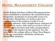 Join Hotel Management College in Mumbai