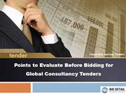 Points to Evaluate Before Bidding for Global Consultancy Tenders - Bid