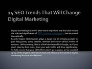 14 SEO Trends That Will Change Digital Marketing