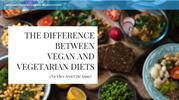 The Difference between Vegan and Vegetarian Diets