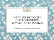 Why Hire Dedicated Developers From Concept Open Source