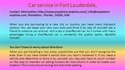 Car service in Fort Lauderdale