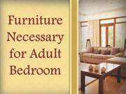 Furniture Necessary for Adult Bedroom