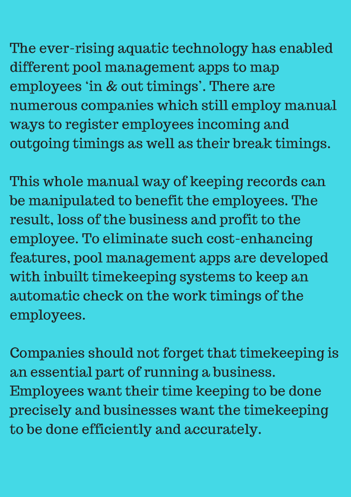 Benefits of the Timekeeping System in a Swimming Pool Management A ...