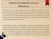 Unknown Facts behind the success of  ERP software