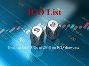 the ico showcase - upcoming icos, icos list, ico calender, active icos