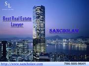 Commercial Real Estate Lawyer Miami, USA.