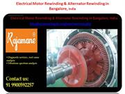 electrical motor rewinding and alternator service