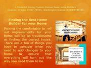 Finding the Best Home Builder for your Home