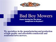 Zero Turn Lawn Mowers - Badboymowers.com
