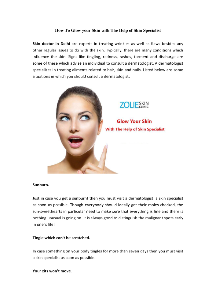 How To Glow Your Skin With The Help Of Skin Specialist Authorstream