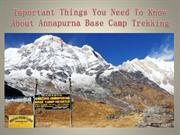 Important Things You Need To Know About Annapurna Base Camp Trekking