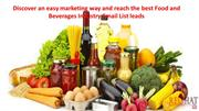 Food and Beverages industry Email List, Food and Beverages Email Datab