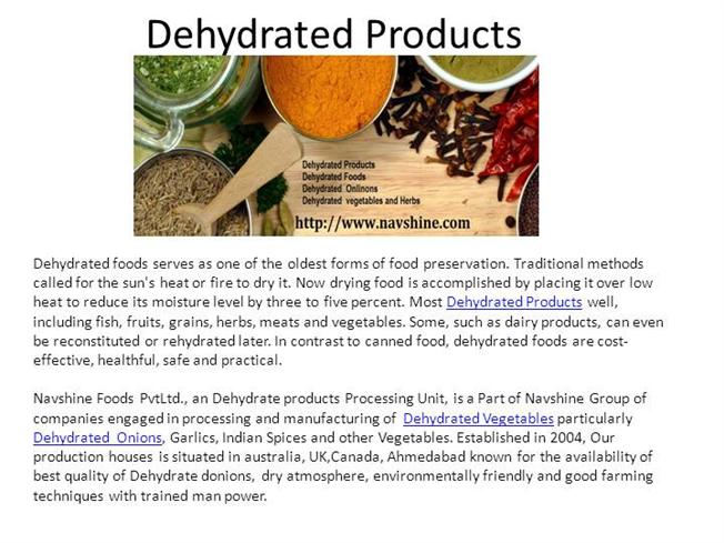 Dehydrated-Vegetables-Manufacturers |authorSTREAM