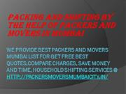 Packing and shifting by the help of Packers and Movers in Mumbai