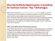 How Social Media Optimization is beneficial for business venture - Top