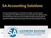 Public Accounting License Downtown Toronto- SA Accounting Solutions