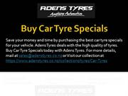 Buy Car Tyre Specials
