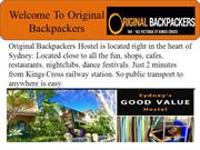 Welcome To Original Backpackers