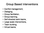 9 group based interventions