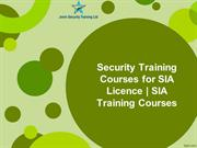 Security Training Courses for SIA Licence