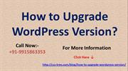 How to Upgrade WordPress Version