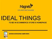 Ideal Things You Must Have in eCommerce Store's Homepage in 2018