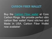 Trendy Carbon Fiber Wallet at Core Carbon Rings