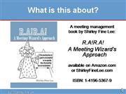 RARA A Meeting Wizards Approach Book Preview