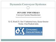Dynamic Conveyor Systems- types of conveyor systems