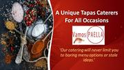 A Unique Tapas Caterers For All Occasions