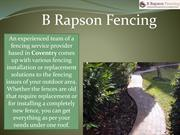What Services Are Provided by A Fencing Service Provider?