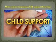 More women are paying child support these days