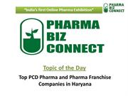Top PCD Pharma and Pharma Franchise Companies in Haryana