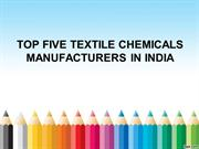 Top Five Textile Chemicals Manufacturers in India - ORA CHEM