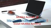 McAfee Activate - http://www.mcafee.com/activate | McAfee.com/activate