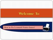 How To Fix Lexmark Paper Jam Issue?