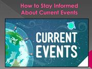 How to Stay Informed About Current Events