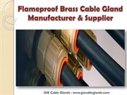 Flameproof Brass Cable Gland Manufacturer & Supplier