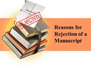 Reason for Manuscript Rejection