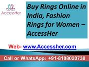 Buy Rings Online in India, Mumbai Goregaon