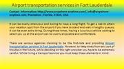 Airport transportation services in Fort Lauderdale