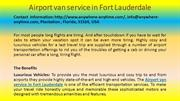 Airport van service in Fort Lauderdale